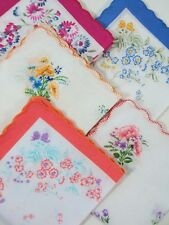 Handkerchiefs LOT 5 FIVE Cotton Hankies Floral Flower Bouquet Pocket Squares NEW