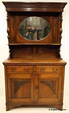 Solid Oak Art Nouveau Sideboard with Mirrored Back FREE Nationwide Delivery