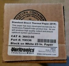 """VariQuest 23"""" Standard Direct Thermal Paper (DTP) for Posters - Black on White"""