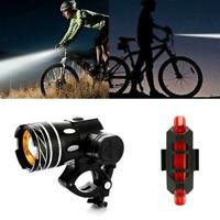 Rechargeable 15000LM XM-L T6 LED MTB Bicycle Light Headlight Front With Bik K5W3