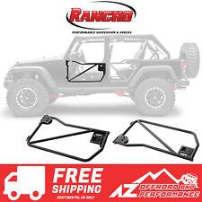 Rancho RockGEAR Tubular Front Doors - Black For 07-18 Jeep Wrangler JK RS6216B