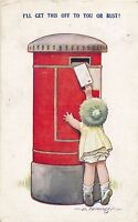 POSTCARD  COMIC  BAMFORTH  KIDDY  Series No 1?3   Children  Postbox   Letter