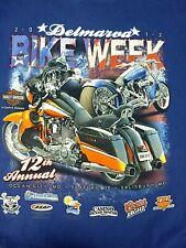 2012 Delmarva Bike Week Men's Shirt Short Sleeve Blue Size XL