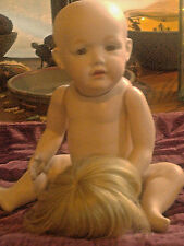 "EVC Vintage Reproduction  KESTNER Character Baby Doll Hilda 14"" Blonde Wig~Nude"