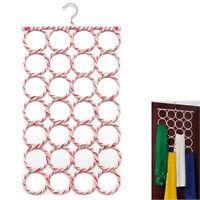 28 Hole Ring Rope Scarf Wraps Shawl Storage Holder Hook Hanger Decor Room