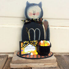 AG Designs Halloween Decor - Black Cat Candy Corn Calories Don't Count #8410