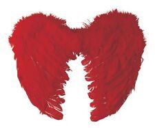 Ailes d' ange en plumes rouge 40 x 32 cm Accessoire Carnaval Déguisement diable