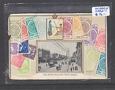 POSTACARD: ADELAIDE, KING WILLIAM  ST FROM THE NORTH . SCARCE CARD!!