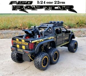 1/24 For FORD F-150 RAPTOR OFF ROAD ALLOY DIECAST PULL BACK CAR TOY GIFT
