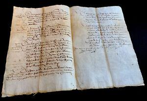 1609 ANTIQUE MANUSCRIPT 4 pages
