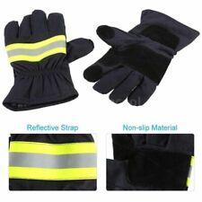 Non Slip Waterproof Firefighting Protective Fireman Gloves Reflective Strap Diy