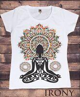 Women Aztec Yoga Top Buddha Chakra Meditation Zen  Peace T-shirt TSA20