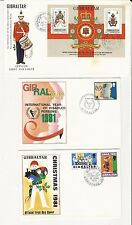 Gibraltar: Lot of 10 different F.D.C different thematic, 2 with S.S. GI30