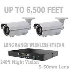 Long Range Wireless Security Cameras Video Up To 6,500 Feet Cctv System + Nvr