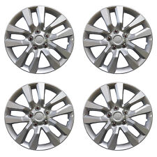 1049 Universal Wheel Cover ABS Wheel Skins Set Hub Caps Silver 16'' -Set of 4