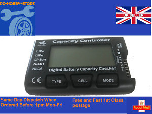 LiPo Battery Tester Voltage Checker Capacity Li-Ion NiMh NiCd LiFe LCD for RC