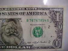 312) 1993 Santa Claus One Dollar Note - Easter Seals - Safeway