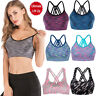 Hot Lady Yoga Bra Back Triple Criss Cross Caged Strappy Crop Top Bralette Padded