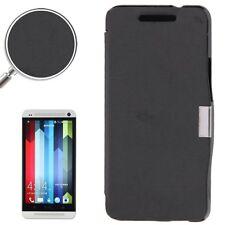 COVER CUSTODIA FLIP CASE SOTTILE SLIM PER HTC ONE M7 801N SOTTILE NERO LIBRO