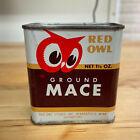 Vintage 1948 Red Owl Minneapolis Spice Tin Grond Mace 1.5 oz Tin Can Full