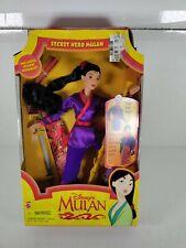 Vintage Mulan Doll Secret Hero #18896 Original Mattel 1997 New In Box