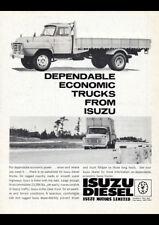 "1963 ISUZU DIESEL TRUCKS AD A2 CANVAS PRINT POSTER FRAMED 23.4""x16.5"""