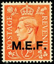 Colonias británicas OC del italiano SGM12, 2d naranja pálido, LH Menta.