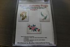 Brother ULT Floral Embroidery Designs Pattern Floppy Disc Card Software Ultimate