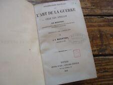 CONSIDERATIONS SUR L' ART DE GUERRE CHEZ LES ANGLAIS MACDOUGALL 1862 10 PLANCHES