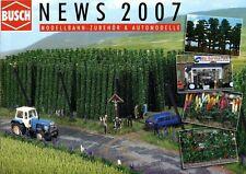 Busch Modellbahn Zubehör + Automodelle Prospekt News 2007 brochure model rail