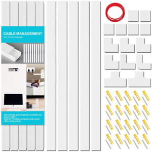 Cord Concealer On-Wall Cable Management Channel, Mini Cable Cover Wire Hider Kit