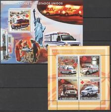 S. Tome 2008 MNH MS+SS, Ambulance in USA, Medicine, Statue of Liberty   -X71