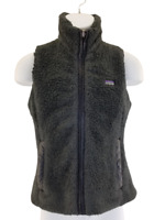 Patagonia Fleece  Women's Small  Full Zip Vest Coat Jacket Gray