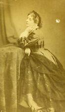 France Paris Theater Actress Virginie Dejazet Theatre Old CDV Photo 1860's