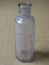 VINTAGE MINARD'S LINIMENT S. FRAMINGHAM MASS USA GLASS BOTTLE