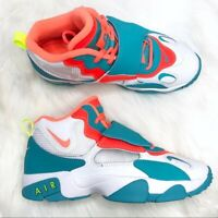Kids Nike Air Speed Turf White/Bright Mango/Total Crimson Child size 9