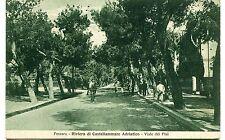1930 Pescara Riviera di Castellammare Adriatico Viale dei Pini FP B/N VG ANIM