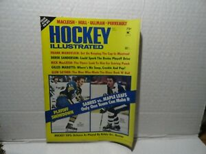 HOCKEY ILLUSTRATED MAGAZINE - MAY 1974 - GILL PERREAULT NORM ULLMAN ON COVER