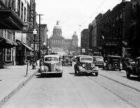 """1940 Des Moines, Iowa Vintage Photograph 8.5"""" x 11"""" Reprint"""