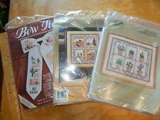 3 COUNTED CROSS STITCH KITS SOMETHING SPECIAL SOUTHWEST PATCHWORK CACTUS POTS