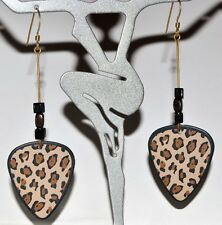 Leopard Guitar Pick Earrings - Girls Rock Funklectic