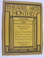 More details for theatre arts monthly oct 1934 neighbourhood playhouse lewisohn sydney graville