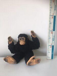"Dean's Rag Book Vintage Chimpanzee, 16"" long, with yellow label Soft Plush Toy"