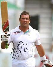 Hand Signed 8x10 photo JACQUES KALLIS - Cricket South Africa - Bradman + my COA
