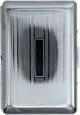 Silver Plate Compact (7 Kings) Metal-Plated Cigarette Case & Stash Box