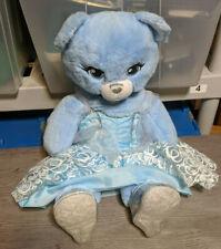BAB Build a Bear Limited Edition Cinderella Blue Bear w/Dress, Shoes, Necklace