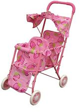 pink double stroller for baby doll great gift for any occasion