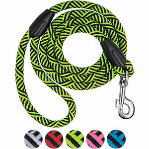 Rope Dog Leash Strong 5 Ft Lead For Dogs Check Cord Training Tracking Nylon Blue
