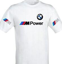 T-SHIRT maglietta bianca BMW M POWER motorrad mens white uomo stampa polo