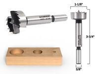 """1-1/8"""" Diameter Steel Forstner Drill Bit - 3/8"""" Shank - Yonico 43017S"""